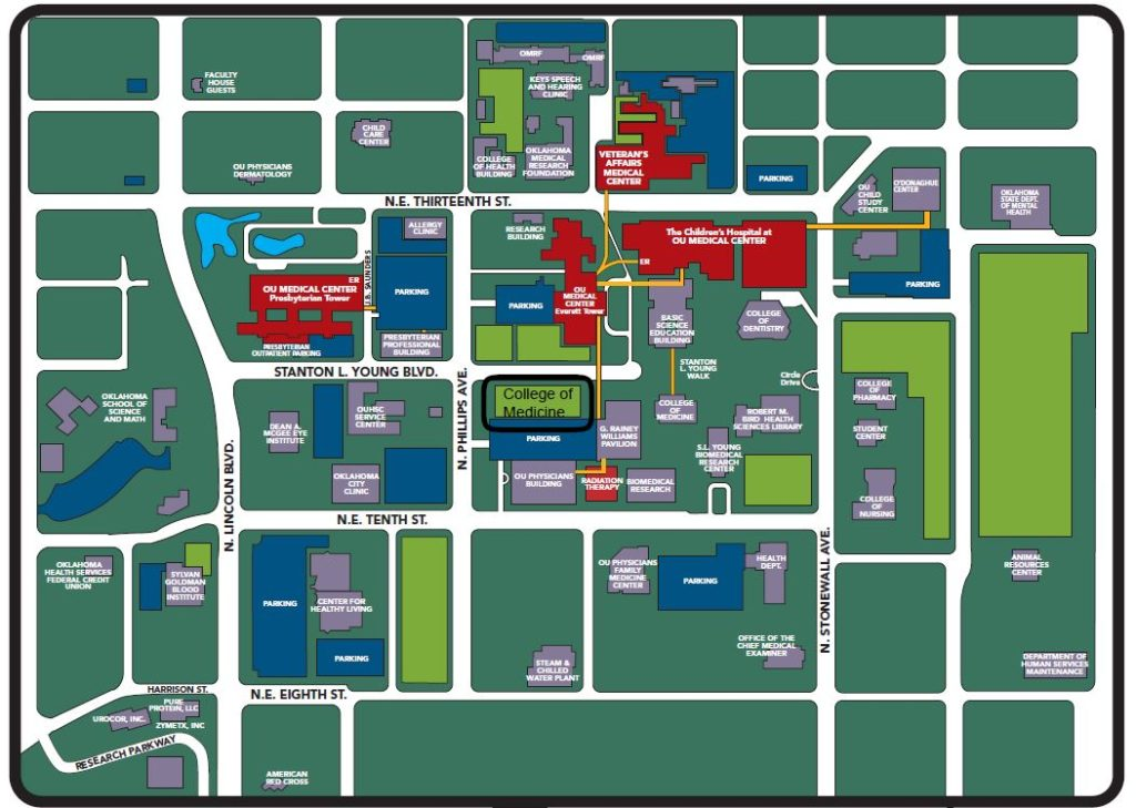 ou medical center map